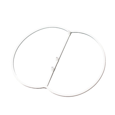 Eastland White Simple Shepherd Hook Base Set of 20