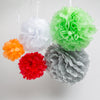 "Richland 8"" Tissue Paper Pom Poms, Red Set of 10"