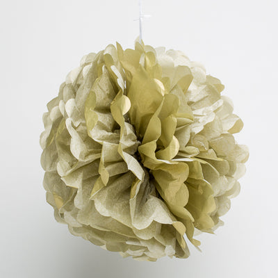 "Richland 6"" Tissue Paper Pom Poms, Gold Set of 10"
