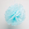 "Richland 12"" Tissue Paper Pom Poms, Turquoise Set of 10"