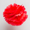 "Richland 6"" Tissue Paper Pom Poms, Red Set of 10"