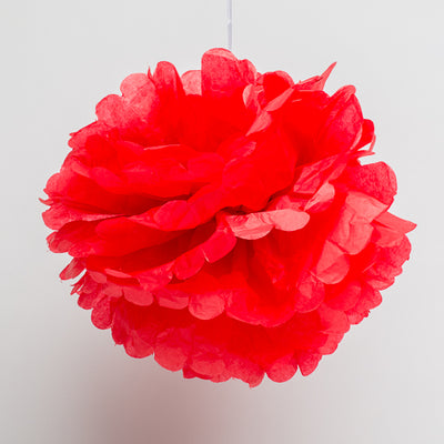 "Richland 10"" Tissue Paper Pom Poms, Red"