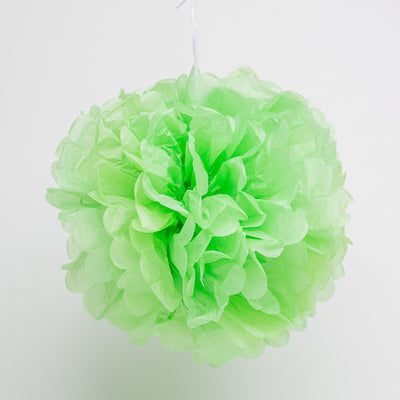 "Richland 12"" Tissue Paper Pom Poms, Green Set of 10"