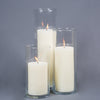 "Richland 4"" Ivory Pillar Candles & 5"" Eastland Cylinder Holders Set of 3"