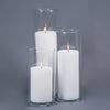 "Richland 4"" White Pillar Candles & 5"" Eastland Cylinder Holders Set of 3"