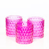 richland pink chunky honeycomb glass votive tealight holder set of 12