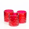 richland red chunky honeycomb glass votive tealight holder set of 12