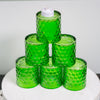 Richland Green Chunky Honeycomb Glass Votive & Tealight Holder Set of 6