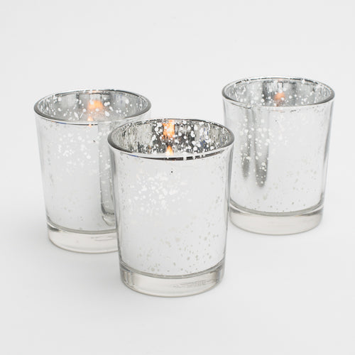 Richland Silver Mercury Votive Holders Set of 12