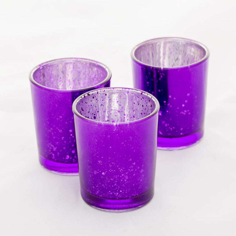 Richland Votive Holders Purple Mercury Set of 12
