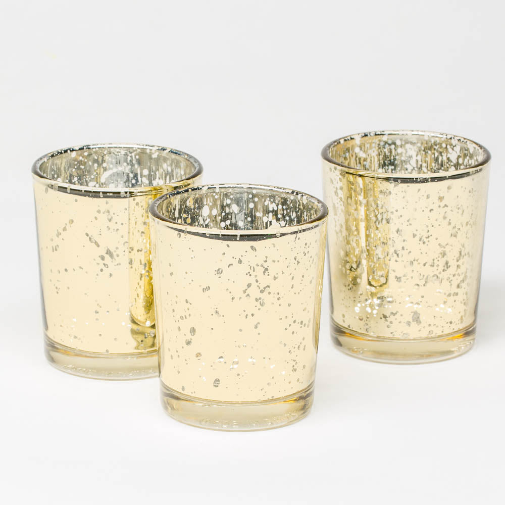 richland metallic gold mercury votive holders set of 72