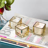 Richland Metallic Gold Mercury Square Votive Holder Set of 12