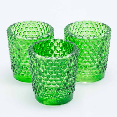 Richland Votive Holder Hobnail Green Set of 72