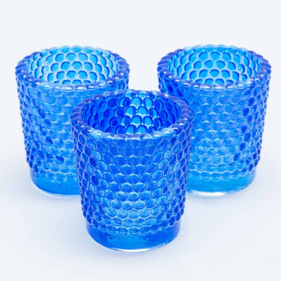Richland Votive Holder Hobnail Blue Set of 12