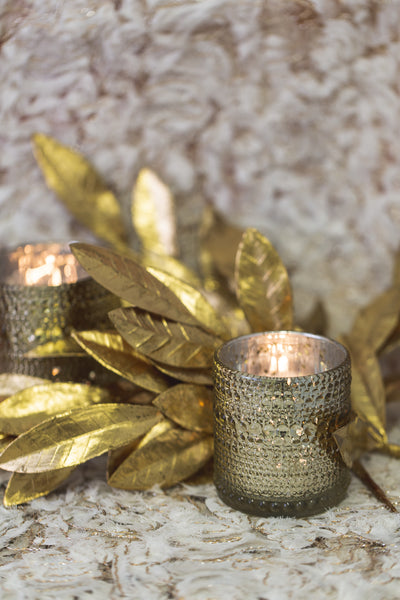 Richland Mercury Candle Holder Pearly Metallic Gold Small Set of 36