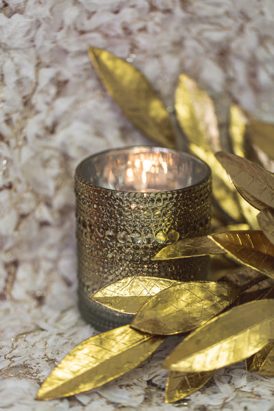 Richland Mercury Candle Holder Pearly Metallic Gold Large Set of 6