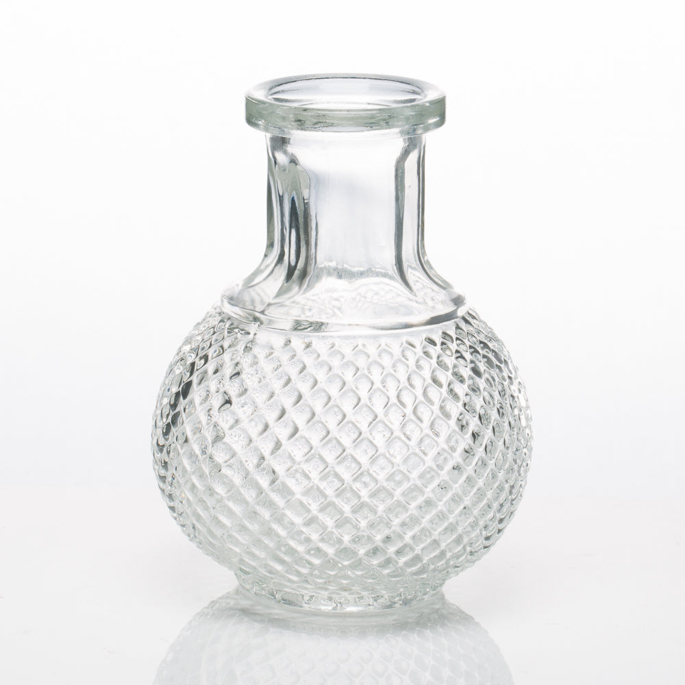 Richland Glass Bud Vase Clear Round Perfume Set of 36