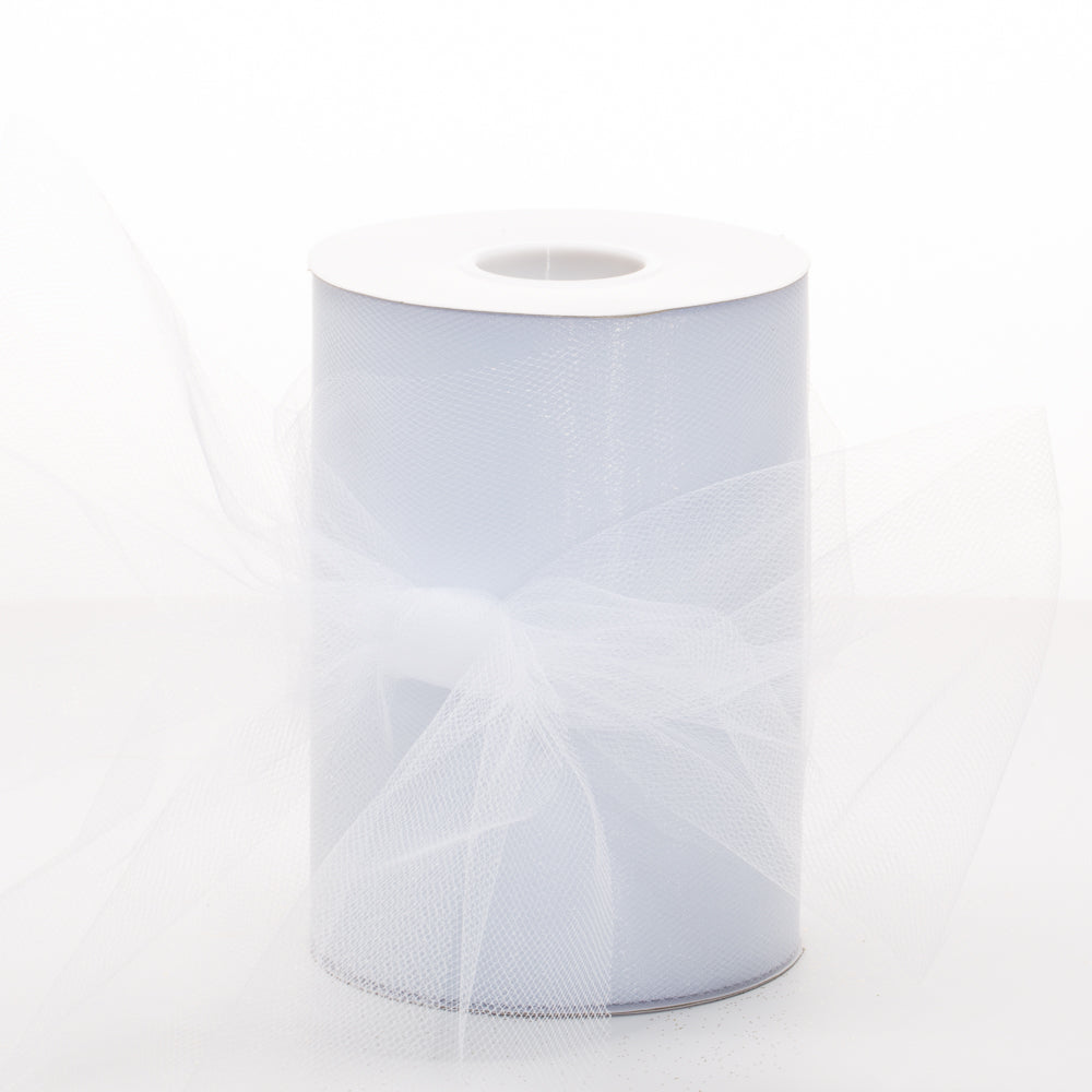 "Richland Tulle Roll 6"" x 100 Yards Wedding White"