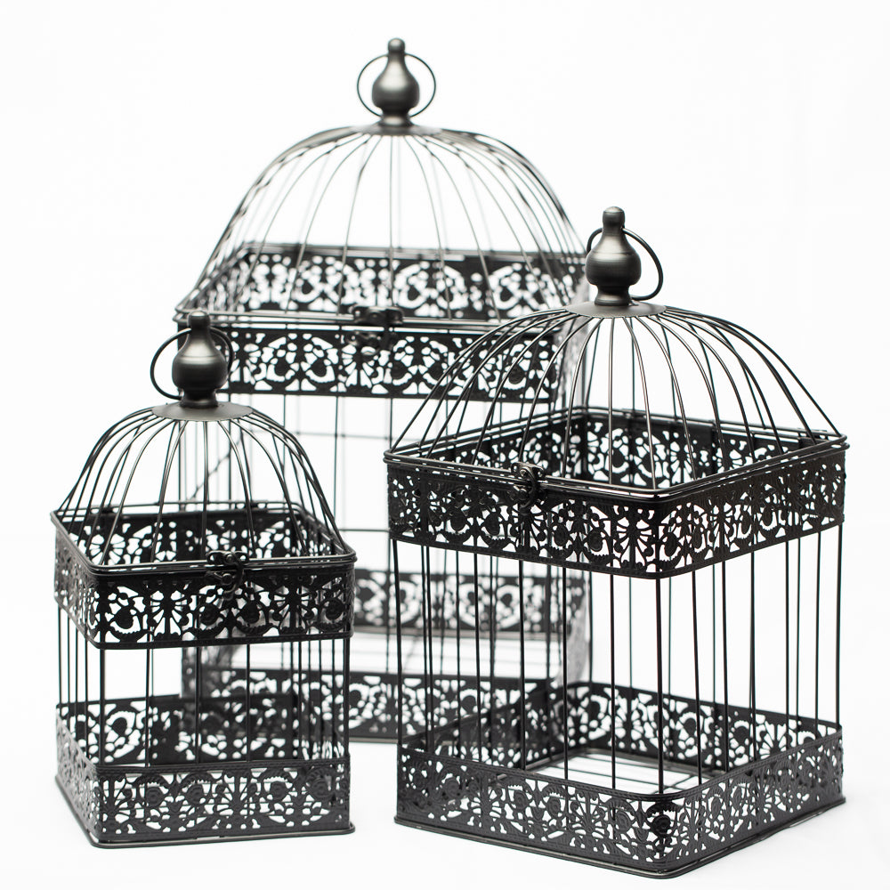 Richland Bodie Bird Cage - Black Set of 3