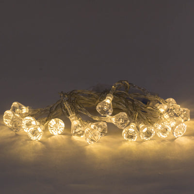 richland led diamond string lights 20 amber led bulbs set of 24