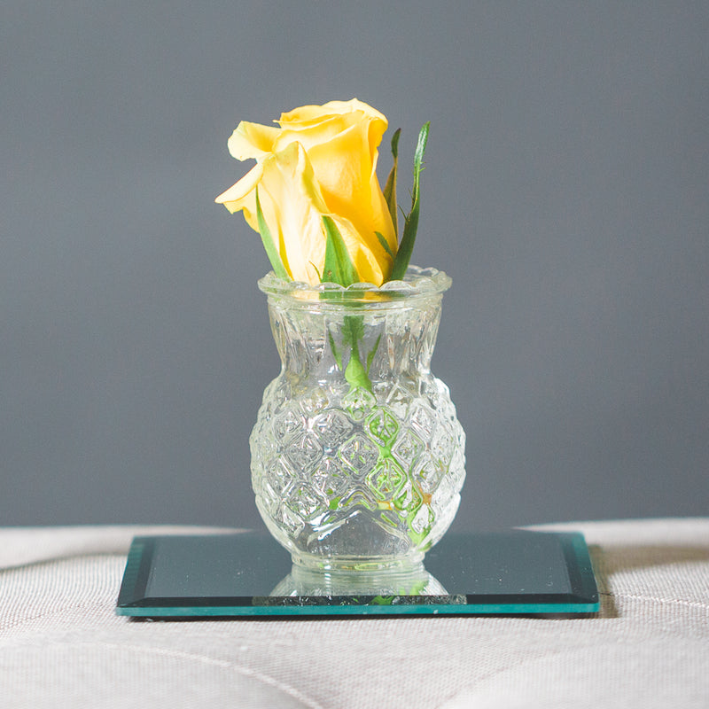 Richland Glass Bud Vase Clear Pineapple Set of 12