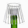 richland inza wine bottle chandelier glass tealight holder