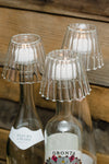 Richland Inza Wine Bottle Chandelier Glass Tealight Holder Set of 4