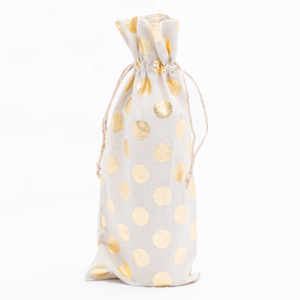 "Richland Linen Bag 6"" x 14"" with Gold Dots Set of 48"