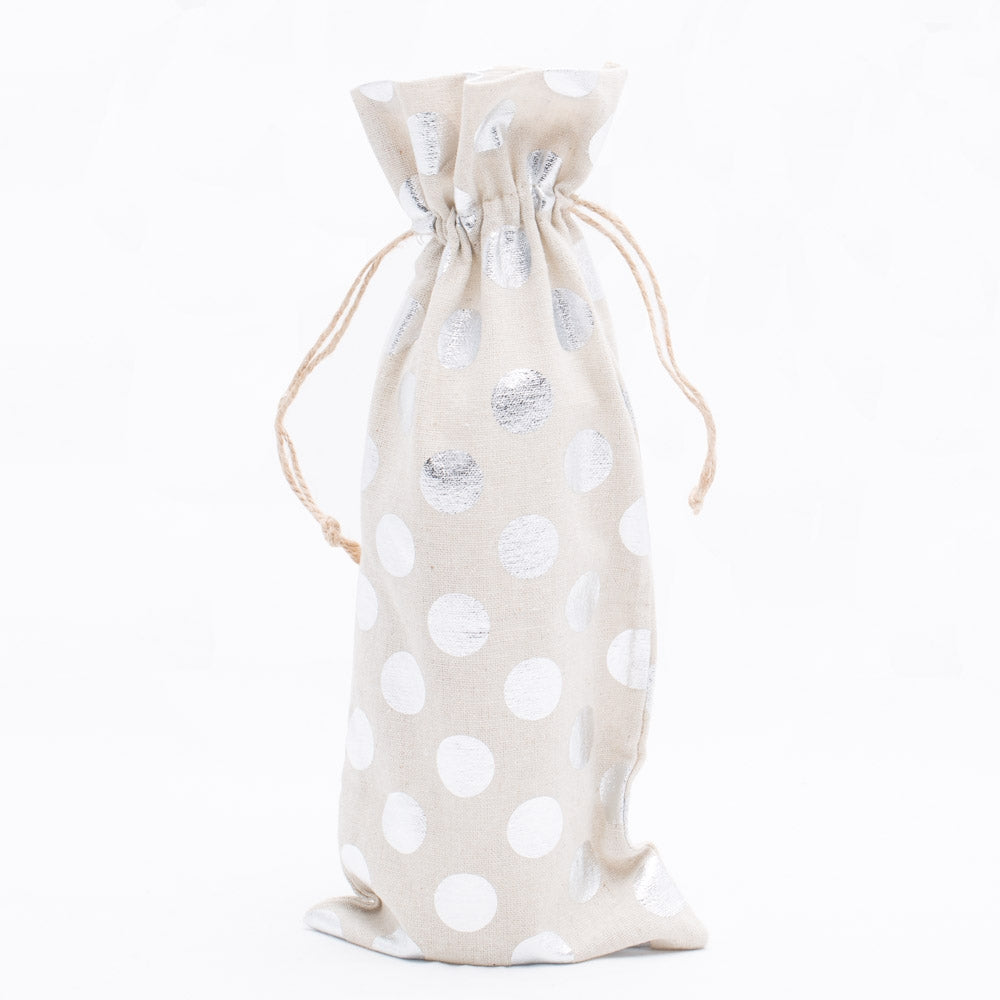 "Richland Linen Bag 6"" x 14"" with Silver Dots Set of 48"