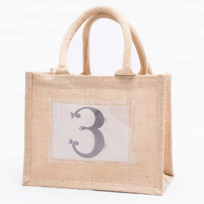 Richland Jute Tote with Photo Pocket Natural Set of 36