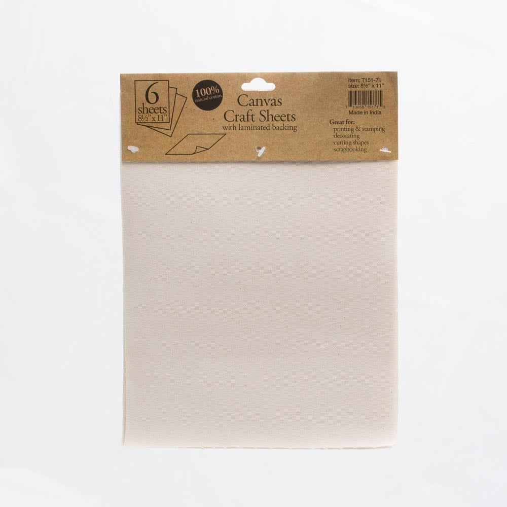 richland canvas craft sheet laminated 8 5 x 11 set of 6