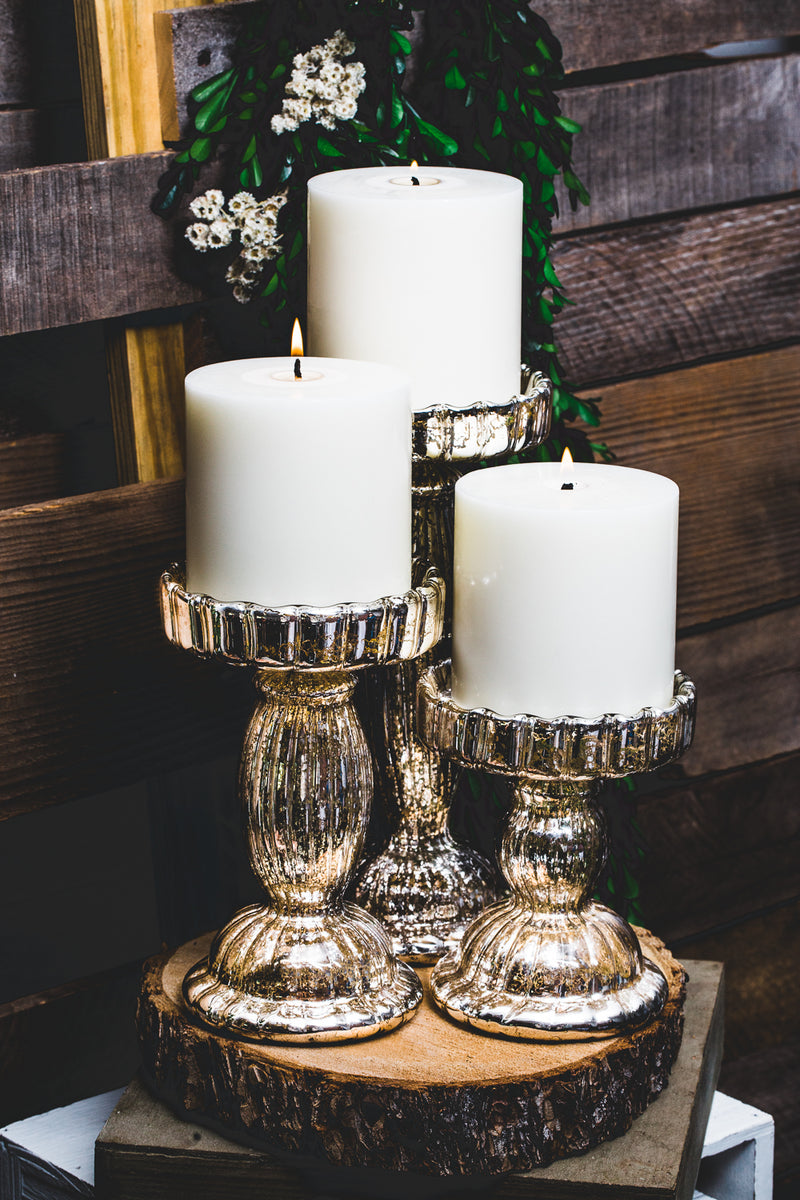 richland rayner mercury pillar candle holder 6