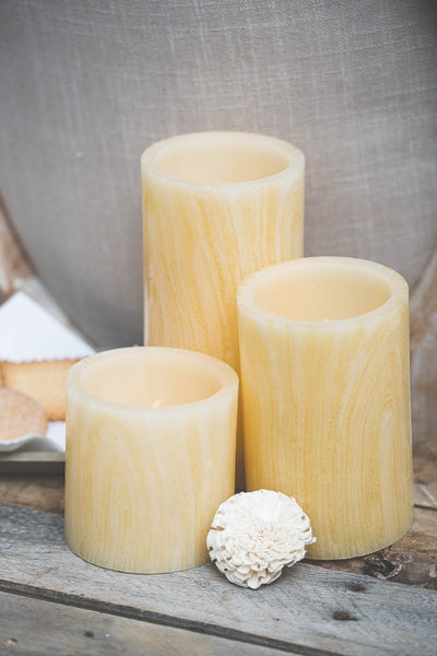 Richland Flameless LED Pillar Candle Birch Set of 12