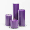 "Richland 4"" x 6"" Purple Pillar Candles Set of 6"
