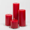 richland 4 x 4 red pillar candles set of 6
