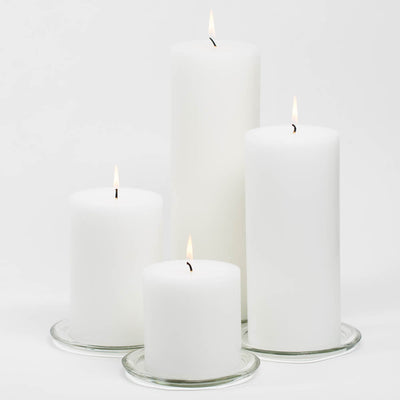 richland 4 x 4 white pillar candles set of 6