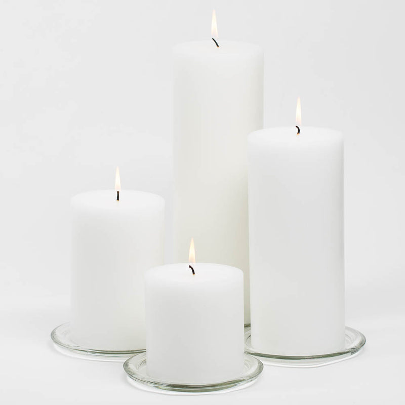 "Richland 4"" x 9"" White Pillar Candle"