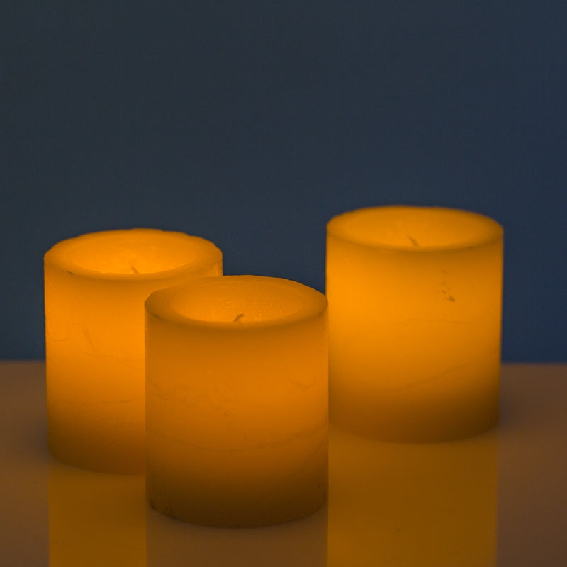 Richland LED Votive Candles Ivory Set of 12