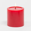 "Richland 4"" x 4"" Red Pillar Candles Set of 6"
