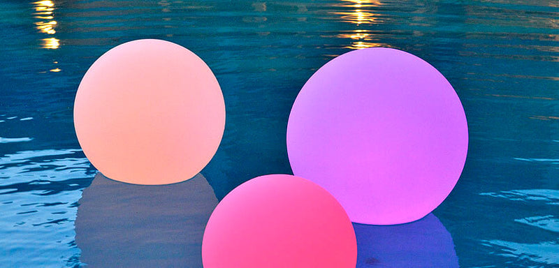 20 led globe waterproof floating rainbow orb with remote