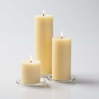 pillar candles square holders set 18