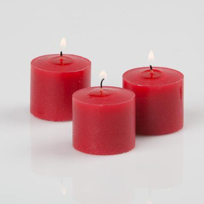 richland votive candles red apple cinnamon scented 10 hour set of 12