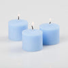 richland votive candles light blue ocean breeze scented 10 hour set of 72