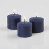 richland votive candles unscented navy blue 10 hour set of 72