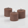 richland votive candles brown cinnamon bun scented 10 hour set of 12