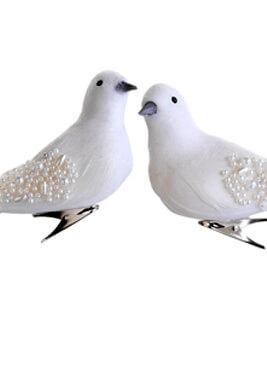 Wedding Birds Pearl Wedding Cake Topper