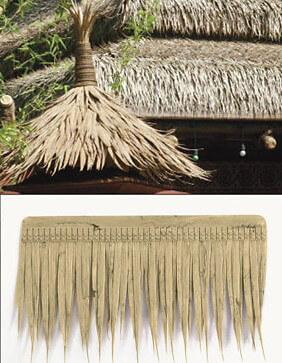 "UV-Proof Outdoor Artificial Thatch Shingle -19""x11"" - Tiki Bar Decorations"