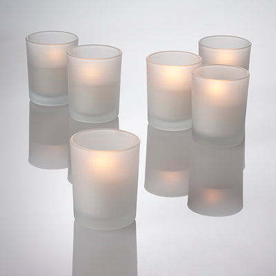 Richland Flameless LED Tealights & Eastland Frosted Holders Set of 12
