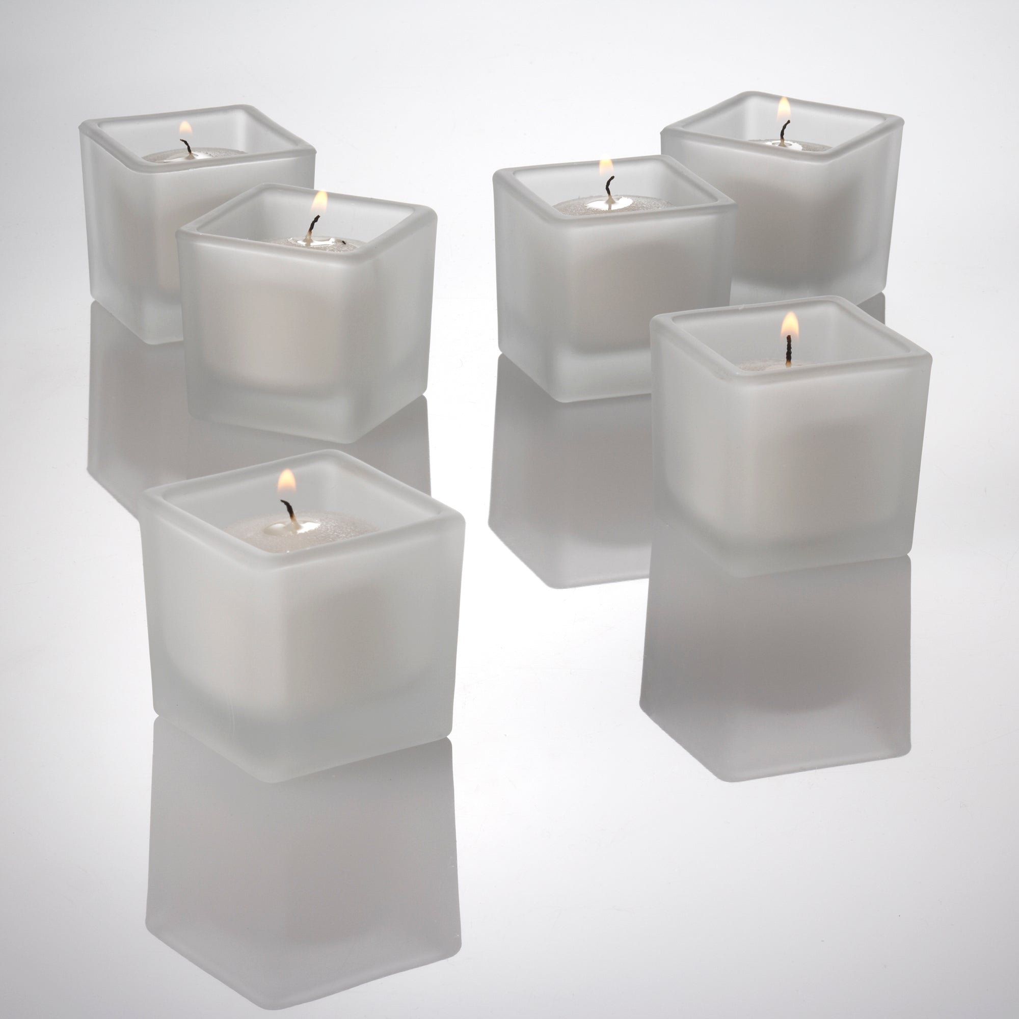 Eastland Square Votive Candle Holder Frosted Set of 12