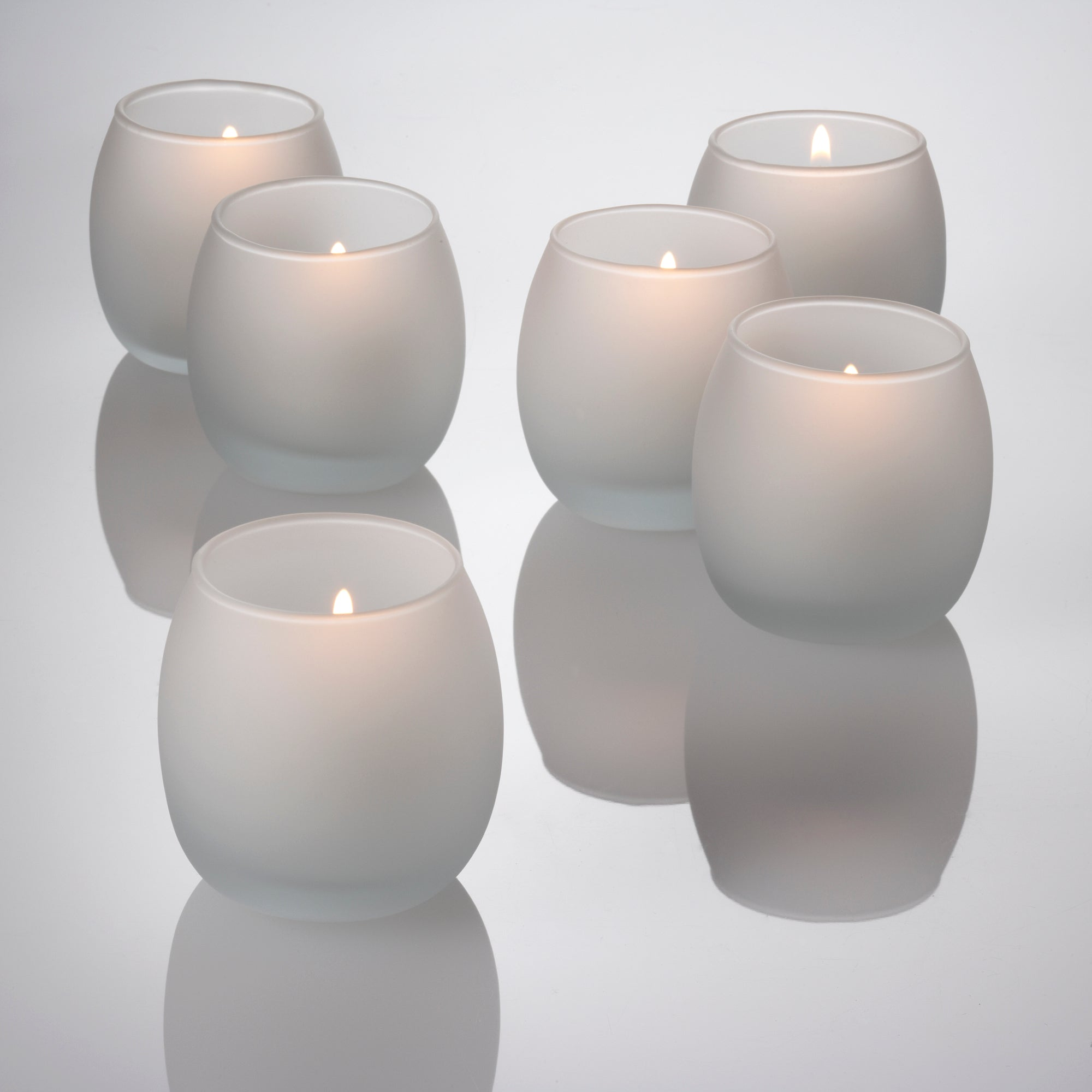 eastland petite hurricane votive candle holder frosted set of 36